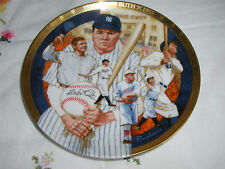 The Legendary Babe Ruth Plate Coa