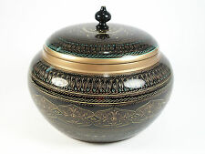 Vintage Carved & Lacquered Box with Lid - South Asia - Late 20th Century