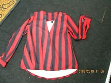 """""""show lei"""" ladies red and black top long sleeves size 14"""