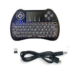 Mini Wireless Keyboard Backlight Touchpad Mouse Rechargeable Smart TV Android,PC