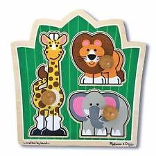 Melissa & Doug Jungle Friends Knob Puzzle 3pce