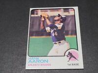1973 Topps Set Break #100 Hank Aaron NR-MINT Braves HOF Sharp