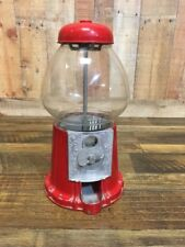Antique Gumball Machine ~ Red Coin Candy Dispenser