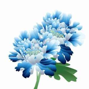 Blue Flowers Classical Hand Painted Sticker Home Wall Toilet Classic Decoration
