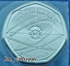 2017 Fifty Pence 50p The Genious Of Sir Isaac Newton BU Royal Mint New