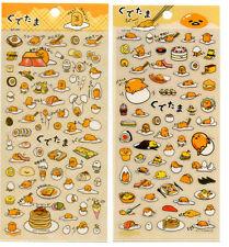 Gudetama Egg Stickers Sticker Sheet Kawaii Breakfast Food LOT
