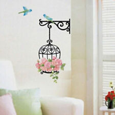 Beauty Removable Flower Bird Cage Room Cabinet DIY Decal Mural Art Wall Sticker