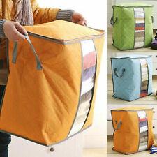 Foldable Closet Home Storage Bag Quilt Blanket Clothes Zipper Organizer Box Bag