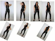 PVC CATSUIT SLEEVELESS Black White Red Blue Yellow Silver18-24  UK New With Tags