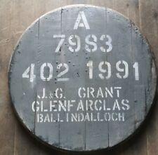 Glenfarclas Distillery,Single Malt Whisky Barrel Lid cask end , ready to hang