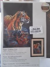 """Cross stitch Kit """" Tiger chilling out""""  New by Dimensions 9"""" x 14"""""""