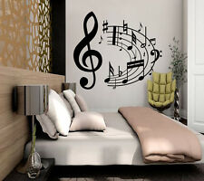 Music Wall Decals Decorations Vinyl Notes Sticker Decor Home Bedroom Art MN885
