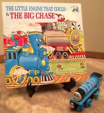 TRAIN Toy + Book: Wooden GORDON w Magnet + LITTLE ENGINE THAT COULD, Thomas Tank