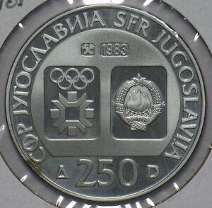 Yugoslavia 1983 Silver 250 Dinara 292753 combine shipping