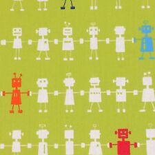 Harlequin Reggie Robot Fabric Remnant 100% Cotton 50cm x 40cm