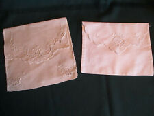 2 Linen Bags for Ladies Personal Items for Traveling, Vintage
