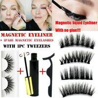 Magnetic Liquid Eyeliner False Eyelashes Tweezer Kit Extension Lashes Waterproof
