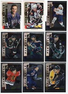 LOT OF (54) 1996-97 PINNACLE BE A PLAYER ON CARD AUTO AUTOGRAPH W/STEVE YZERMAN
