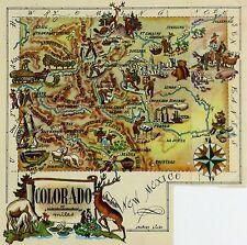 Colorado Antique Vintage Pictorial Map