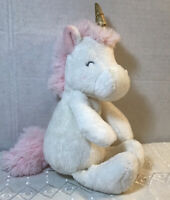 2016 CARTERS UNICORN Plush Stuffed Animal Baby Toy Lovey Security SEWN EYES EUC