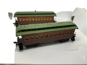HO TYCO Lot Of 2 Atchison Topeka & Santa Fe Old Time Coach Passenger Cars