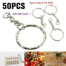 100pcs BULK Split Metal Key Rings Keyring Blanks With Link Chains for DIY Craft