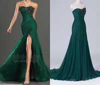 Mermaid Green Long Formal Ball Gown Party Prom Bridesmaid Evening Dresses Custom