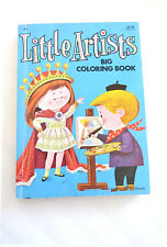 Vintage Little Artists Coloring Activity Book Nursery Rhymes Art Work Graphics