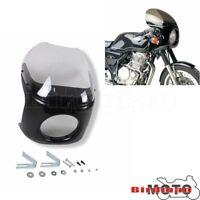 "Universal motorcycle 7"" Headlight Fairing +Clear Windscreen For Honda Cafe Racer"