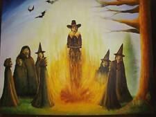 Witches Burning Corruption Puritan Salem Horror Art Painting Print