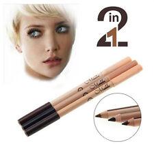 2 en 1 Double Face Noir/Marron Eyeliner/Sourcil Couleur+Stylo Concealer