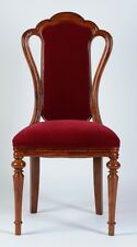 Wooden Chair Handmade / Carved Rosewood Timber with Upholstery - #26