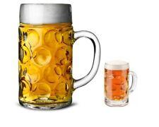1x German Beer Stein Glass & 1x Mini Shot Tankard 40ml Beer Glass Mug German