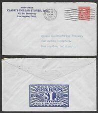 1929 Advertising Cover - Los Angeles, California - Clark's Dollar Stores