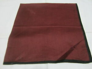 """USED DARK RED SOLID PATTERN COTTON 18"""" POCKET SQUARE HANDKERCHIEF HANKY FOR MEN"""