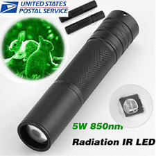 5W 850nm LED Infrared IR Flashlight Torch Zoomable for Night Vision Scope USA