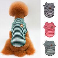 Sommer Haustier Welpe Hund Katze Streifen Freizeitkleidung Kleidung Weste T