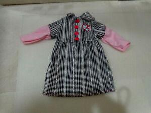 BATTAT  DOLL CLOTHING DRESS GREY PINK /GREY