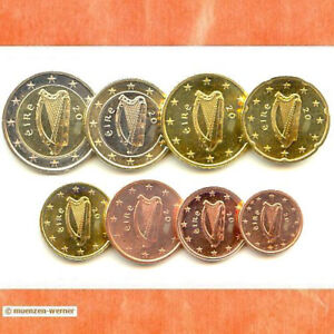 Kursmünzensatz Irland 2007 1c-2 Euro•Münze•KMS alle 8 Münzen Satz Eurosatz Set