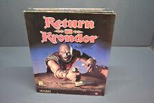 New old stock sealed vintage big box Return to Krondor pc windows game