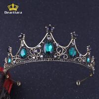 Bronze Emerald Tiara Crown Queen Princess Hair Accessory 3 Colors
