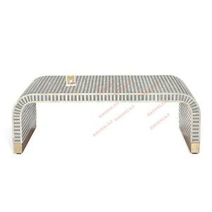 Bone Inlay Console Table Modern Waterfall Handmade Furniture. With insurance Dec