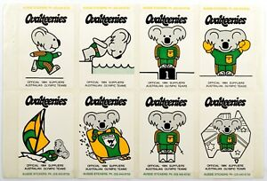 Ovaltine Stickers, Ovalteenies 1984 Australian Olympic Teams, Complete set of 6
