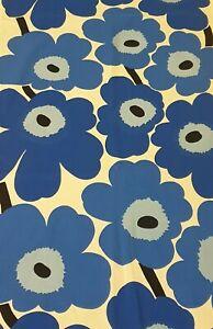 MARIMEKKO Blue Unikko Poppy Valance Curtain