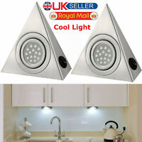 LED MAINS KITCHEN UNDER CABINET CUPBOARD TRIANGLE LIGHT LIGHTING KIT COOL WHITE
