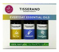 Tisserand EVERYDAY ESSENTIAL OILS 9ml Gift Trio: Tea Tree/Lavender/Eucalyptus