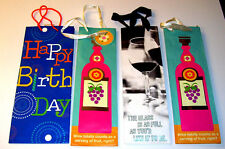 Lot of 4 Hallmark WINE Gift Bag Totes High Quality New Used