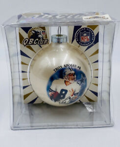 Troy Aikman #8 Dallas Cowboys NFL Ornament Made In USA Collectible Q.B. Club h8