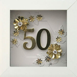 16th 18th 21st 50th Birthday Anniversary Gift Framed Diamante Picture Any Age