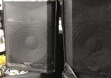 "(2) QSC K12 2 Way 12"" Powered PA Loud Speakers 1000 watt with covers"
